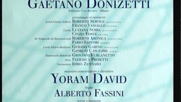 <span>FULL </span>Lucia di Lammermoor Venice 1997 Serra Aronica Servile