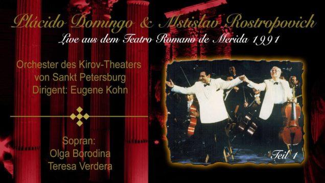 <span>FULL </span>Domingo with Rostropovich Merida 1991