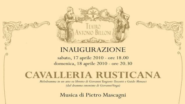 <span>FULL </span>Cavalleria rusticana Barlassina 2010 Bozzo Servidio Mauri
