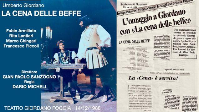 <span>FULL </span>La Cene delle Beffe (Giordano) Foggia 1988 Armiliato Lantieri Chingari