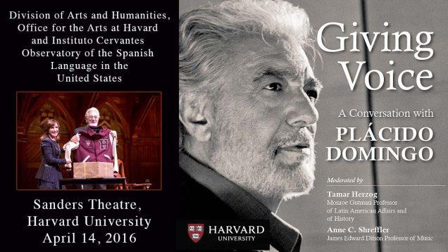 <span>FULL </span>Placido Domingo – Giving Voice Harvard University 2016