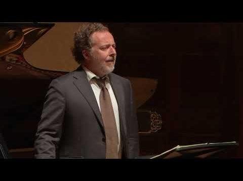 Christian Gerhaher Lieder Recital London 2020