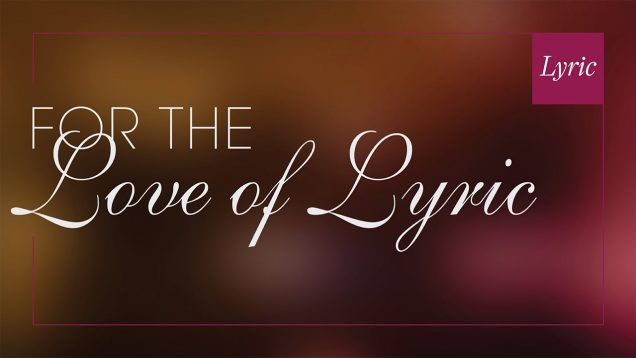 For the Love of Lyric (Virtual Concert) Chicago 2020 Fleming Perez J'Nai Bridges
