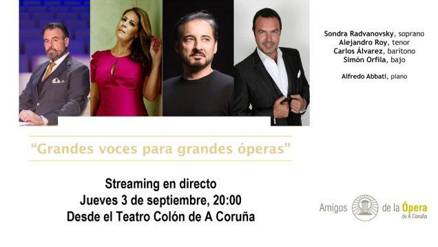 <span>FULL </span>Great voices for great operas A Coruna 2020 Radvanovsky Alvarez Roy Orfila