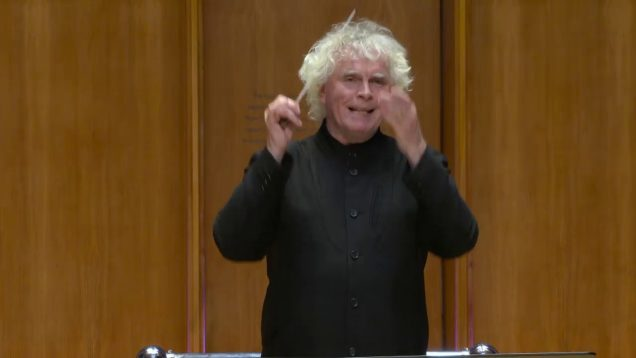 Simon Rattle conducts Knussen, Turnage, and Britten London 2020 Crowe Clayton