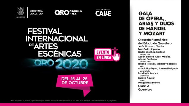 <span>FULL </span>Gala de Ópera Arias y Dúos de Haendel & Mozart Santiago de Querétaro 2020