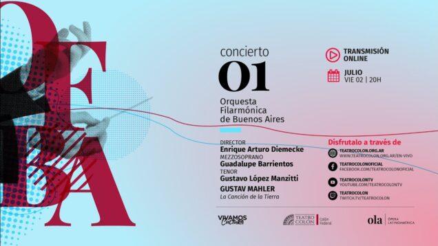 <span>FULL </span>Das Lied von der Erde (Mahler) Buenos Aires 2021 Barrientos Manzitti