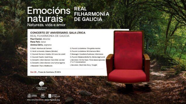 Concerto 25º aniversario da Real Filharmonía de Galicia Santiago de Compostela 2021